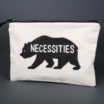 Bear necessities zipper bag