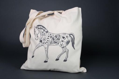 Custom horse tote bag