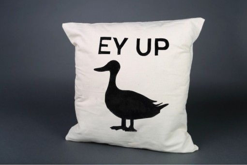 Ey up Duck! cushion cover