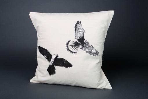 Kestrels cushion cover